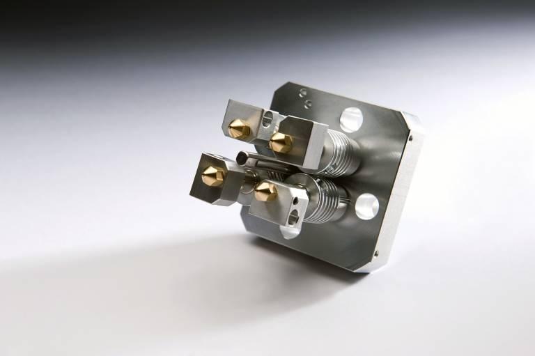 Bis zu vier unterschiedliche Materialien können mit dem Multec 4Move Druckkopf verarbeitet werden.