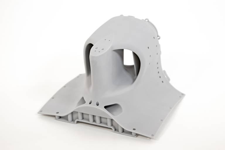 Alfa Romeo Sauber F1 Team Racecar Rollhoop-Teil für Windkanal-Testmodell, hergestellt auf dem 3D Systems ProX 800 SLA 3D-Drucker mit Xtreme-Material.