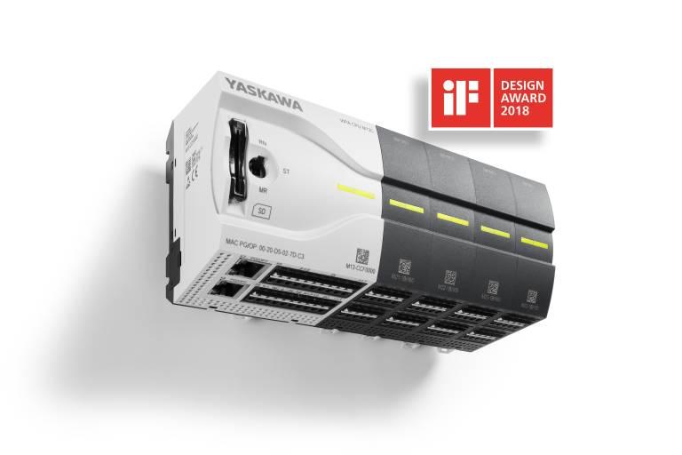 """Die Kompaktsteuerung MICRO PLC von Yaskawa wurde mit dem begehrten Designpreis """"iF DESIGN AWARD"""" ausgezeichnet."""