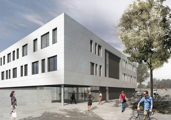 Die Jenaer Antriebstechnik GmbH erweitert den Standort in Jena. Auf 2.500 m² entsteht derzeit ein neuer Technologie- und Produktionskomplex. (Bild: pbr Jena)