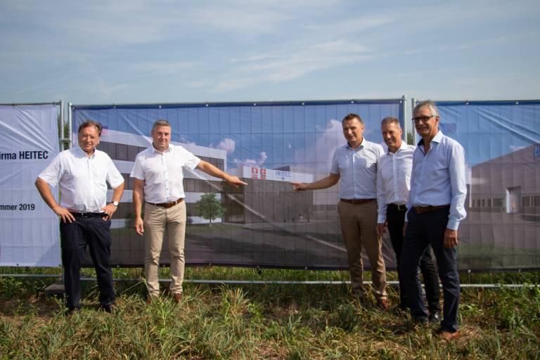 August 2018: Projektstart Neubau Fa. Heitec in Stift Ardagger/Amstetten Nord.