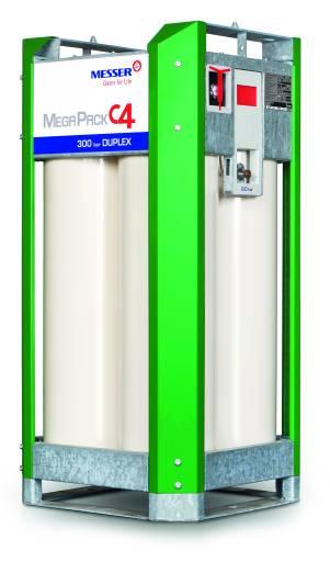Das kompakte Gasflaschenbündel MegaPack C4 von Messer Austria bietet Platz für vier 150-Liter-Flaschen Argon 5.0 oder Ferroline C6 X1 und ist zudem mit Duplex-Technologie und einem Fülldruck von 300 bar erhältlich.