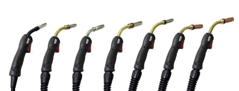 Fürs Schweißen in jeder Dimension: Die neuen UM-Standardschweißbrenner von EWM mit Eurozentralanschluss gibt es gas- und wassergekühlt für Stromstärken zwischen 180 A und 500 A.