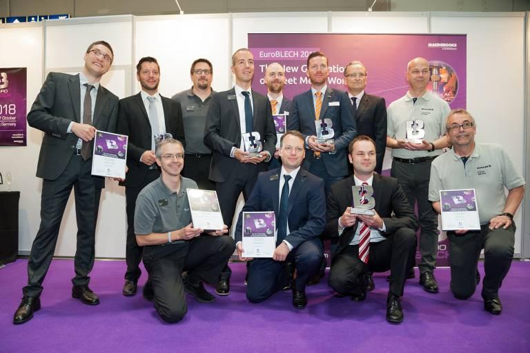 Die Award-Gewinner der EuroBLECH 2016.