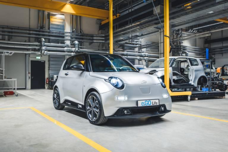 Kurze Entwicklungszeit dank Industrie 4.0: Die ersten Prototypen des e.GO Life wurden in der Anlauffabrik des RWTH Aachen Campus gefertigt.