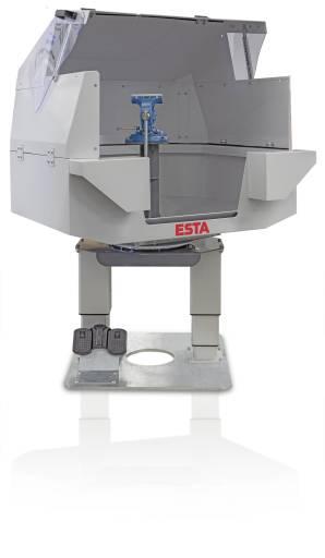 Der 360°-Absaugtisch von Esta wurde lufttechnisch optimiert.