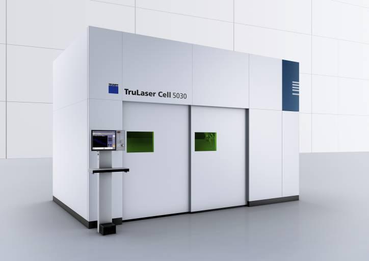 Die neue TruLaser Cell 5030 ist speziell für das Prototypengeschäft sowie für kleinere und mittlere Stückzahlen konzipiert und serienmäßig mit einem Trumpf Scheibenlaser ausgestattet. (Bild: Trumpf)