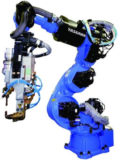 Ein aktuelles Beispiel für leistungsfähige Schweißroboter von Yaskawa: der 7-achsige Motoman VS100 mit einer Traglast bis zu 110 kg. (Bild: Yaskawa)
