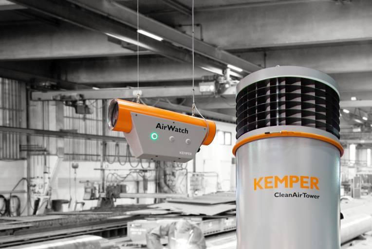Mit dem weiterentwickelten Luftüberwachungssystem AirWatch präsentiert das Kemper eine intelligente Lösung zur Messung und Kontrolle der Hallenluftqualität.