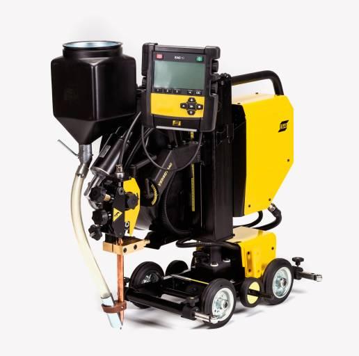 Versotrac ist ein modularer Schweißtraktor, der ohne Kran oder Hebezeug überallhin mitgenommen werden kann.