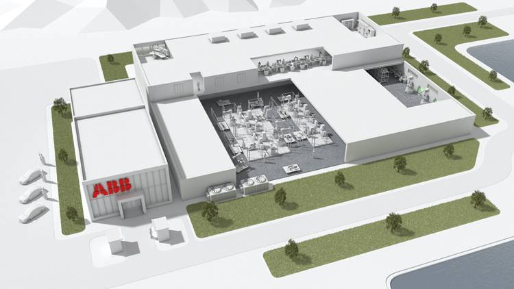 Innovatives Fabrikdesign optimiert jeden Quadratmeter Produktionsfläche. (Bild: ABB)