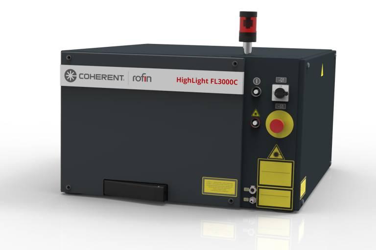 Der Coherent|ROFIN HighLight FL3000C ist der erste Faserlaser des Unternehmens mit 3 kW Ausgangsleistung, die aus einem einzigen Faserlasermodul generiert werden.