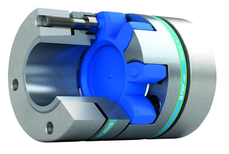 Die spielfreien, elastischen ROBA®-ES Elastomerkupplungen von mayr® Antriebstechnik gleichen radialen, axialen und winkligen Wellenversatz aus. Sie schützen das Antriebssystem vor kritischen Schwingungen.