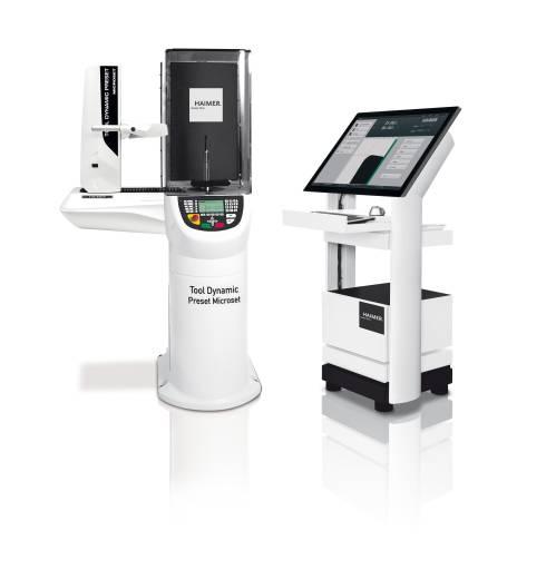 Auf der GrindTec 2018 präsentiert Haimer seine neue Wuchtmaschine Tool Dynamic Preset Microset, die Auswucht- und Voreinstelltechnik optimal kombiniert. (Bilder: Haimer)