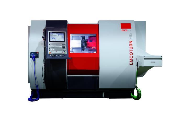 Emco bietet seine Drehmaschinen EMCOTURN E45 und E65 nun auch mit Heidenhain CNC Pilot 640 an.