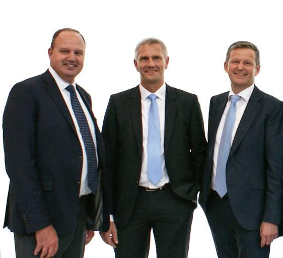 (V.l.n.r): Urs Baumgartner, CEO Kellenberger, Marc Springstein, Geschäftsführer Hardinge und Charles P. Dougherty, neuer CEO der Hardinge Group.
