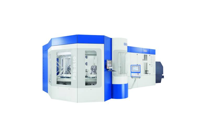 Eine 5-Achs-Universalmaschine wird durch ein Paletten-Rundspeichersystem PSS-R und ein Werkzeugzusatzmagazin TM200 zu einer flexiblen Fertigungszelle erweitert und bietet einen optimalen Einstieg in die automatisierte und hocheffiziente Fertigung.