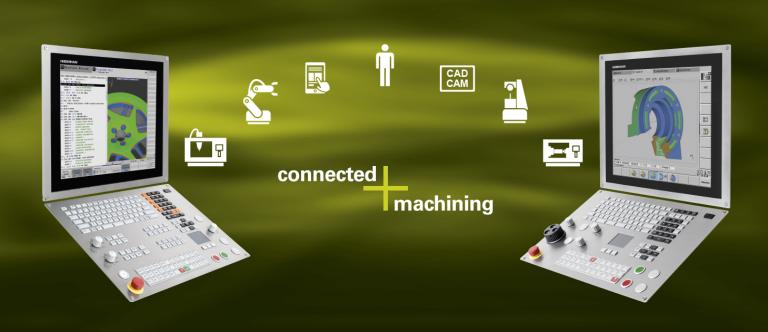 Connected Machining für die Fräs- und Drehsteuerungen von Heidenhain stellt den Anwender an der Maschine in den Mittelpunkt der vernetzten Prozesskette.