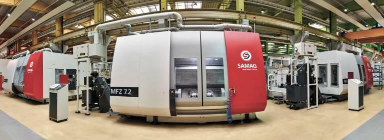 Mit dem modularen Baukastensystem Fit 2 Part von Samag ist eine Anpassung des Bearbeitungszentrums an das Werkstück möglich.