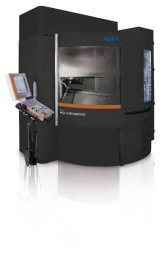 Mit der Mikron MILL S GRAPHITE und der neuen HVC140 Spindel von Step-Tec mit 42.000 U/min können Graphitformhersteller eine breite Palette von Materialien bearbeiten.