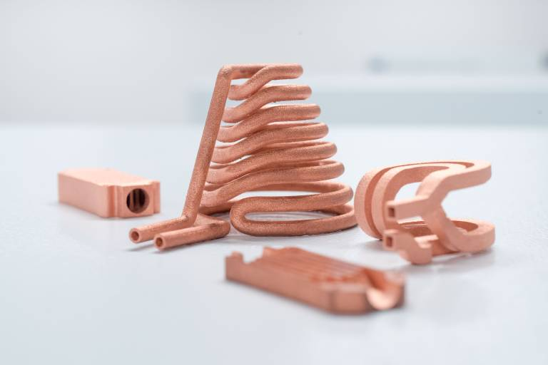 3D-gedruckte Bauteile aus Reinkupfer sind für den Maschinen- und Anlagenbau interessant.