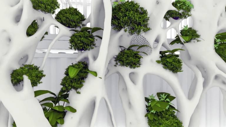 Der GENESIS Eco Screen ist mit einem voll integrierten Bewässerungssystem für Pflanzen- und Insektenräume ausgestattet.