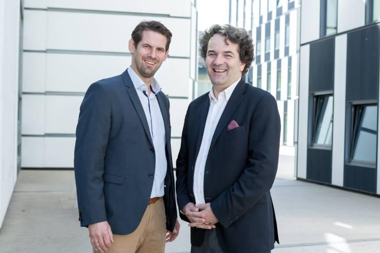 V.l.: Mag. Georg Heinz und Dr. Stefan Radel, beide Geschäftsführer & Co-Founder der Usepat GmbH.