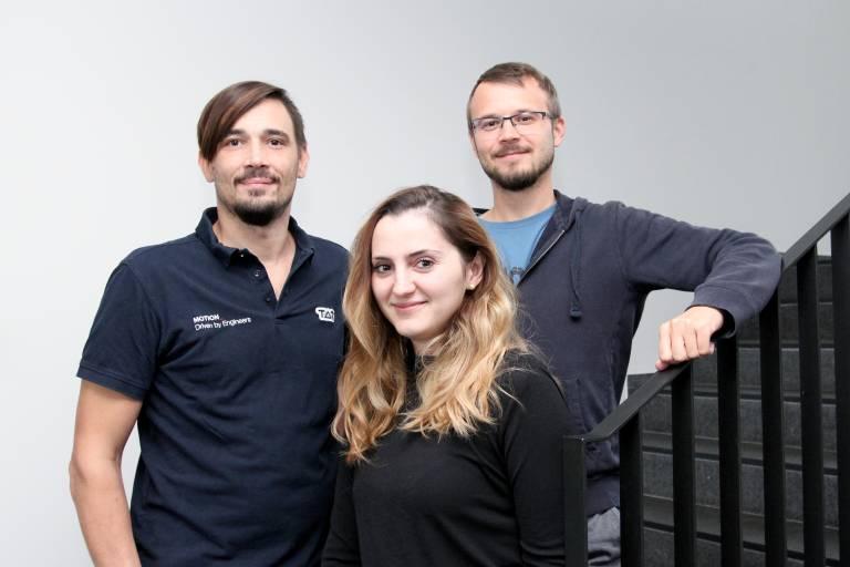 TAT verstärkte sich vor kurzem mit drei neuen Mitarbeitern: v. l. Peter Moser, Elmedina Miftari und Philipp Mair.