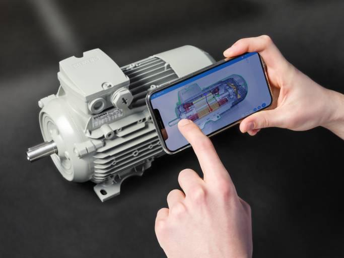 Intuitiver Zugriff auf Produktdaten des Digital Twin dank Augmented Reality. (Bild: Fraunhofer IGD, Siemens AG)