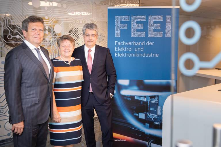 v.l.n.r. Lothar Roitner, Brigitte Ederer, Wolfgang Hesoun.