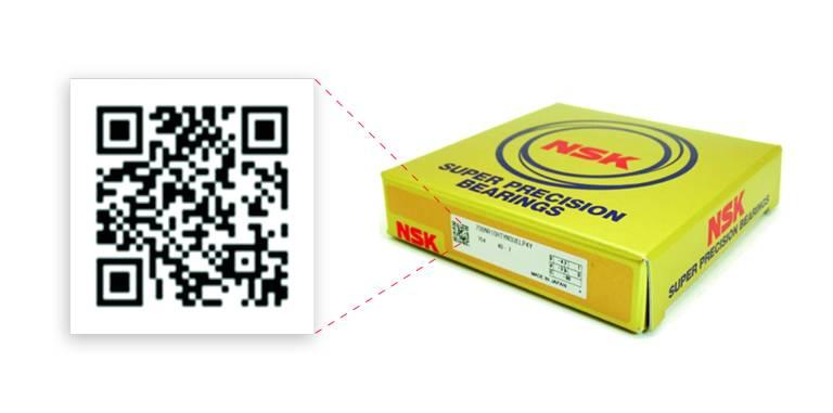 Mit der NSK Verify App kann der Anwender durch das Scannen des 2D-Barcodes auf der Verpackung die Echtheit des Wälzlagers überprüfen.