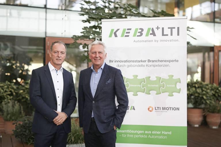 V. l.: Hartmut Braun, Geschäftsführer LTI Motion und Gerhard Luftensteiner, CEO Keba AG.