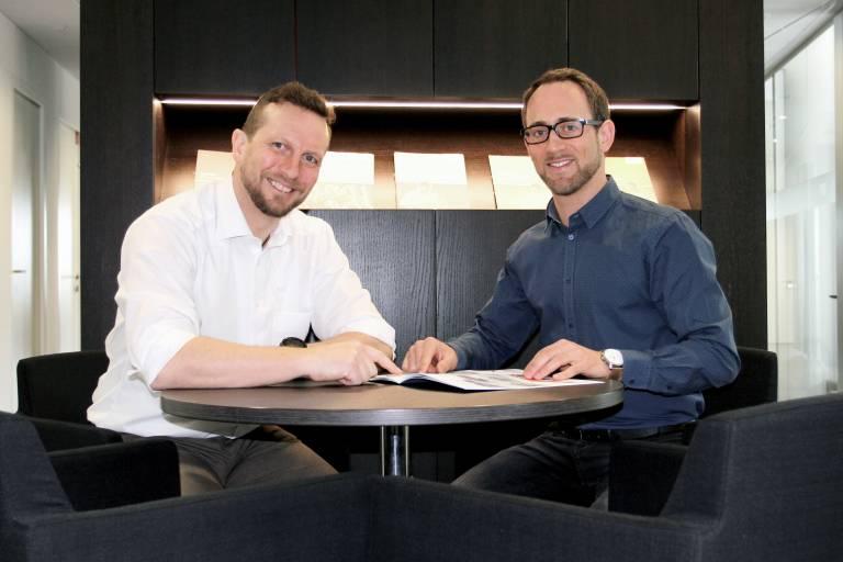V. l.: Ing. Peter Lampl erhält mit Karl Filzmoser Verstärkung im Technischen Verkauf/Außendienst in der Region OÖ/Salzburg.