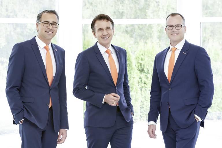 Das neue Geschäftsführer-Trio: v. l. Lothar Kübler, Gebhard Kübler und Martin Huth.