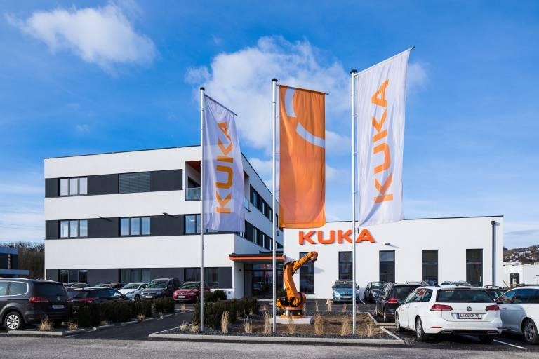 Das neue Firmengebäude der Kuka CEE GmbH in Steyregg.