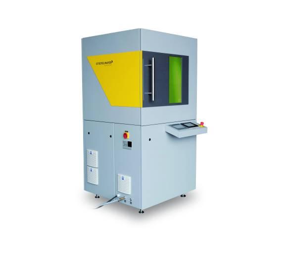 Die Integration der Elektronik und der Laserquelle in die Maschine erlaubt eine kompakte Bauweise.