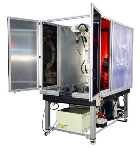 OTC Daihen Europe hat mit EASY ARC eine neue mobile Schweißroboteranlage für den Werkstattbetrieb entwickelt.
