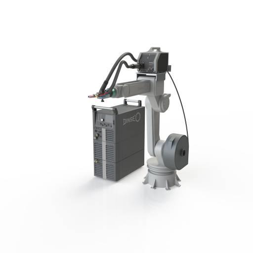 Dinse WIG-System: Stromquelle DIX TIG mit integrierter Drahtsteuerung, Heißdrahtmodul DIX TIG HW 2800, Kühlgerät DIX CM, Drahtvorschub DIX WD 710 und flüssiggekühlter Brennergarnitur mit Heißdraht-Set HDZ 400.