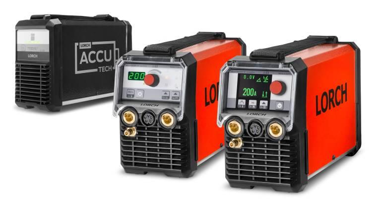 Mit der All-In-Technologie und den Bedienvarianten ControlPro (rechts) und BasicPlus (Mitte) garantiert die MicorTIG 200 von Lorch hohe Flexibilität und Mobilität beim WIG-Schweißen.