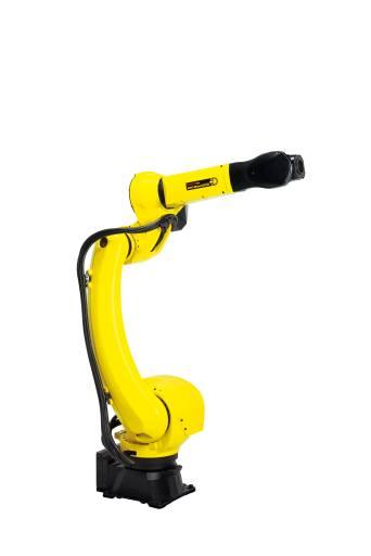 Der Schweißroboter ARC Mate 120iD ein verbessertes Design mit einer optimalen Führung von Kabeln und Medienleitungen.