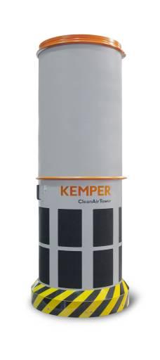 Die CleanAirTower eignen sich als Ergänzung zu Punktabsaugungen beim Schweißen. Dabei ist beispielsweise der der CleanAirTower SF 9000 (im Bild) in der Lage, 9.000 m3 Luft pro Stunde zu reinigen.