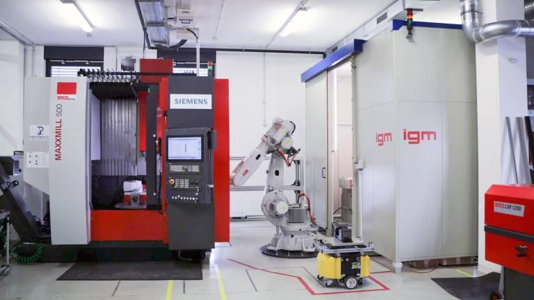Test- und Demonstrationsumgebung des CDP in der Pilotfabrik Industrie 4.0. (Bild: P. Wilke)