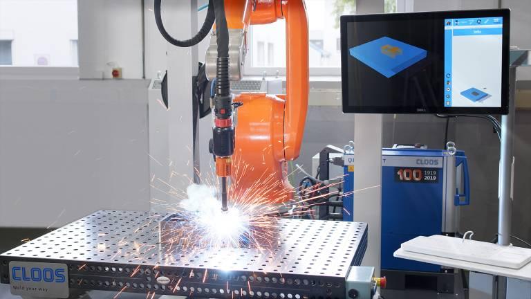 Das Instant Robot Programming System IRPS ermöglicht das effiziente Schweißen von kleinen Losgrößen mit minimalem Programmieraufwand.
