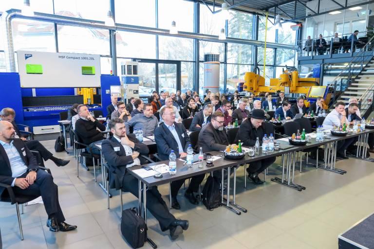 Full House beim Community Event: Rund 80 Maschinenhersteller, Technologieanbieter, Systemintegratoren und Softwareentwickler kamen zum Community Event 2019 am Verbandssitz des Industry Business Network 4.0 im MicroStep CompetenceCenter im bayerischen Bad Wörishofen zusammen.