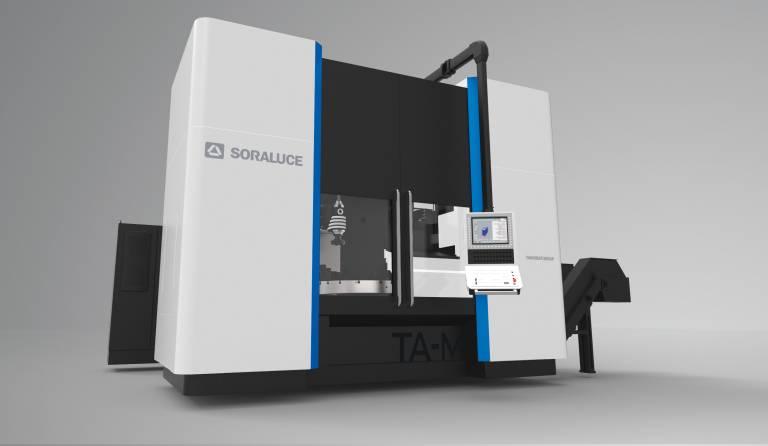 Während der Technologietage 2018 präsentierte Bimatec Soraluce erstmals das neue Multifunktionscenter TA-M mit einem Längsverfahrweg von (X) 3.500 mm und einem im Maschinentisch integrierten Karusselldrehtisch mit einem Ø von 1.250 mm.
