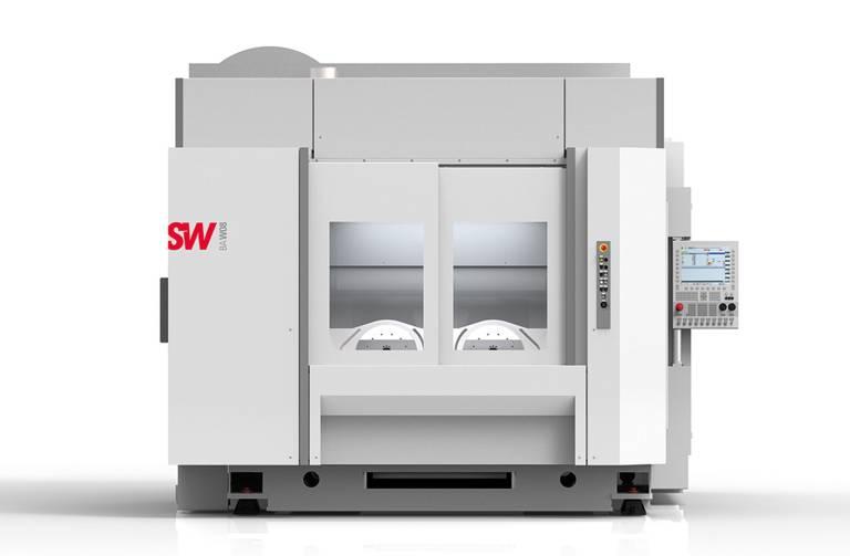 SW hat für die spanende Bearbeitung von E-Auto-Bauteilen ein spezielles Bearbeitungszentrum entwickelt: Die BA W08 ist  für die 4- und 5-achsige Bearbeitung von sehr großen Leichtmetallwerkstücken wie Strukturbauteilen ausgelegt und kann Werkstücke ein- oder zweispindlig bearbeiten.