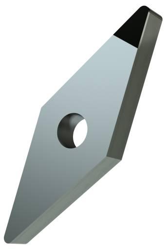 Für die Messungen wurde diese einseitig bestückte, rautenförmige Wendeschneidplatte mit PKD-Tip bearbeitet.