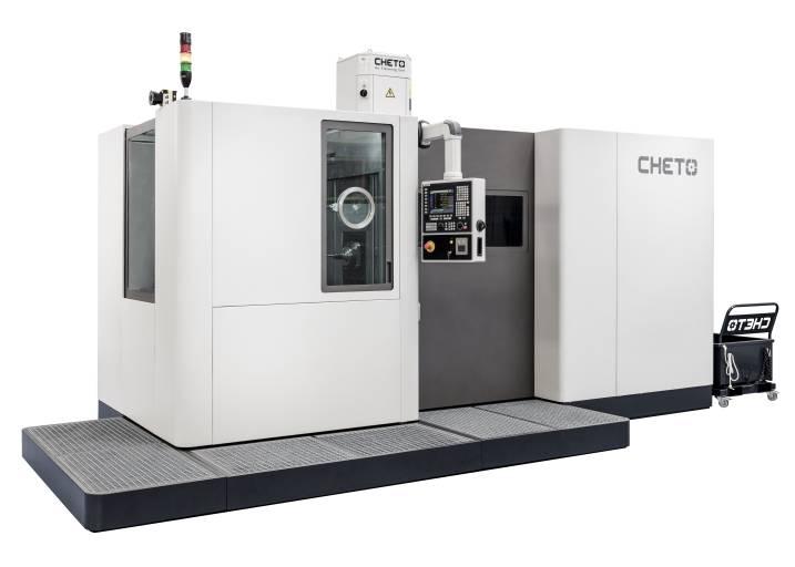 Das 6-achsige SiC-Modell (Small indexable Cheto) ermöglicht effizientes Tieflochbohren und Fräsen für Kleinteile sowie eine 5-Seitenbearbeitung in einer Aufspannung und kann bei Bedarf auch automatisiert werden.