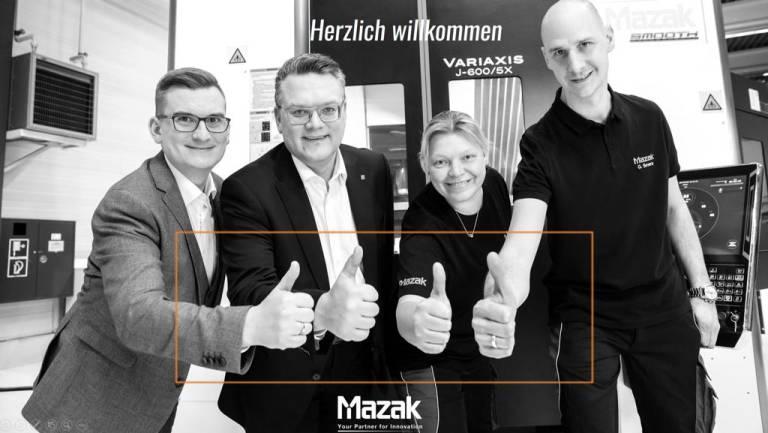 Das Yamazaki Mazak Team in Österreich ist startklar (v.l.n.r.): Markus Stranzinger, Florian König, Bierte Siewert und Gerald Severa.
