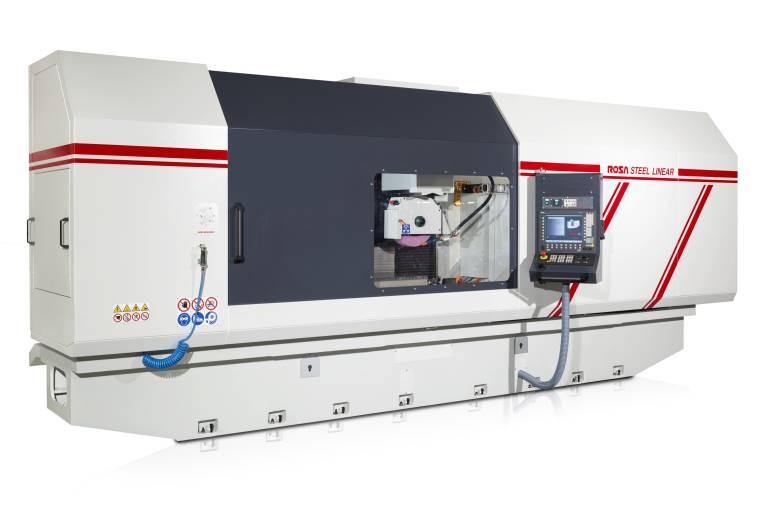 Das Konstruktionsprinzip wird in der Linearbaureihe durch den Siemens Linearantrieb in der Tischachse mit bis zu 65 m/min zum Schleifcenter optimiert.